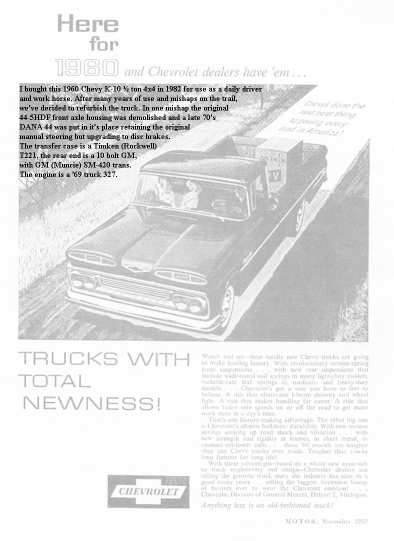 1960 Chevy Truck Ad